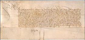 Un document de paix de Georges de Poděbrady