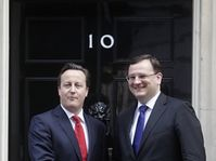 David Cameron et Petr Nečas à Londres, photo: CTK