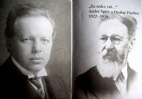 Otokar Fischer et André Spire, photo: repro 'Ze srdce váš...' André Spire a Otokar Fischer 1922-1938 / PNP