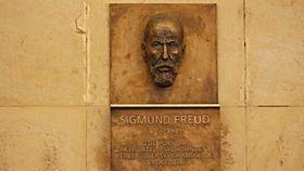 Placa conmemorativa a Sigmund Freud, Olomouc, foto: Aleš Spurný, ČRo