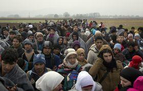 Refugees at Rigonce, photo: ČTK