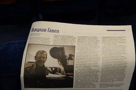 Статья об Вацлаве Гавеле в украинской прессе, Фото: Архив Чешского центра в Киеве