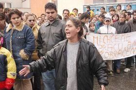 Disturbios de los gitanos eslovacos, foto: CTK