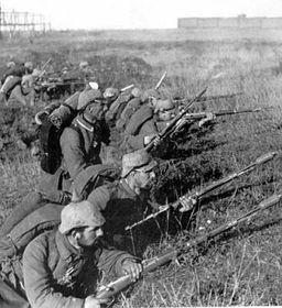 Солдаты во время Первой мировой войны