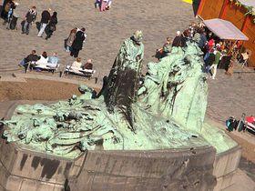 Husův pomník na Staroměstském náměstí vPraze, foto: Kristýna Maková, archiv Českého rozhlasu - Radia Praha