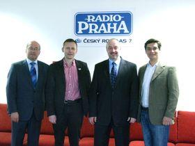 Freddy Valverde, Miroslav Krupička, Petr Bratský y Carlos González-Sháněl. Foto: Kristýna Maková