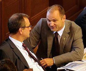 Ministr vnitra Ivan Langer (vpravo), foto: ČTK