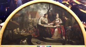 Jan Jiří Heinsch: Santa Inés funda la Orden de los caballeros de la estrella roja, foto: Archivo de la Galería Nacional