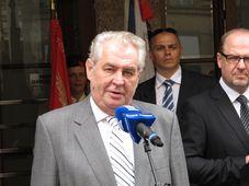Президент ЧР Милош Земан (Фото: Кристина Макова, Чешское радио - Радио Прага)