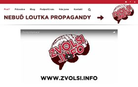 Webseite der Studenteninitiative zvolsi.info