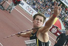 Petr Frydrych at the Golden Spike in Ostrava, 27 May 2010, photo: CTK