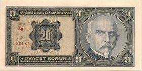 Двадцать чехословацких крон с изображением Алоиса Рашина, Фото: открытый источник