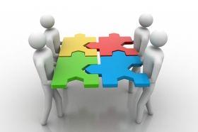 Zusammenarbeit - spolupráce (Foto: cuteimage, FreeDigitalPhotos.net)
