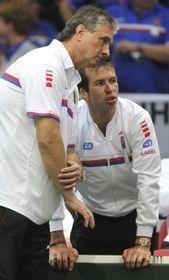 Jaroslav Navrátil et Radek Štěpánek, photo: ČTK