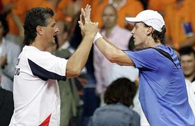 Jaroslav Navratil and Tomas Berdych, photo: CTK