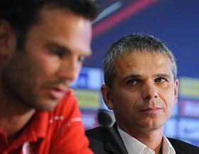 Patrik Berger and Vítězslav Lavička, photo: CTK