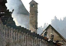 Pernstjen Castle after the fire, photo: CTK