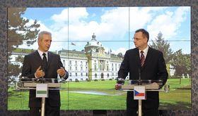 Stanislaw Tillich und Petr Nečas (Foto: ČTK)