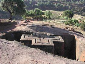 Rock-cut monolithic church in Lalibela, Ethiopia, photo: Jiří Němec