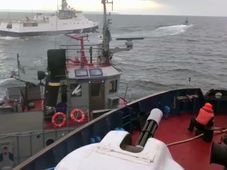 Incident between the Russian coast guard and a Ukrainian tugboat, Kerch Strait, Nov. 25, 2018, photo: ČTK/AP/Russia's Federal Security Service