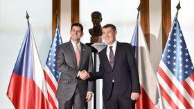Paul Ryan, Andrej Babiš, photo: CTK
