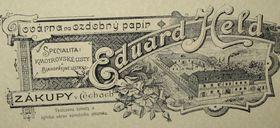Papierwarenherstellung in Zákupy wurde 1884 von Eduard Held begründet (Foto: Markéta Kachlíková)