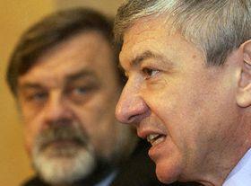 Diputados Vladimír Zelezný y su colega Jaroslav Doubrava, foto: CTK