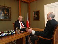 Президент Милош Земан и редактор Кирилл Щелков (Фото: арцхив Канцелярии президента Чешской Республики)