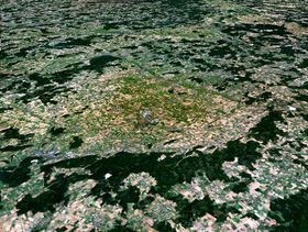 Kráter Ries, foto: NASA, Public Domain