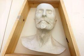 Kopie posmrtné masky T. G. Masaryka, která putovala do Izraele, foto: Petra Ševců, archiv ČRo