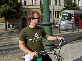 Michal Uhl, photo: Site officiel de Zelení – Praha 2