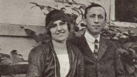 Olga Scheinflugová aKarel Čapek, foto: Památník Karla Čapka