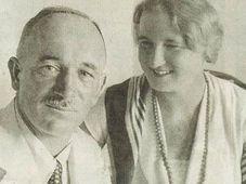 Hana Benešová s manželem (1934), foto: autor neznámý, Public domain, Wikimedia Commons