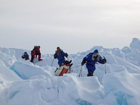 Problems in ice barriers, North Pole, photo: Archive of Zdeněk Chvoj