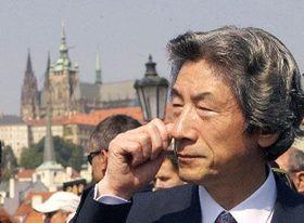 Дзюньитиро Коидзуми в Праге (Фото: ЧТК)