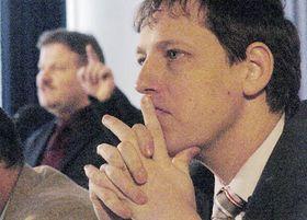 Stanislav Gross y Zdenek Skromach en Ostrava (Foto: CTK)