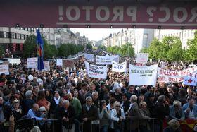 La manifestation à Prague, merccredi soir, photo: ČTK