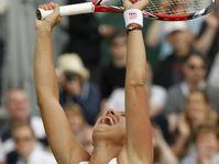 Barbora Záhlavová-Strýcová après la victoire contre Caroline Wozniacki, photo: ČTK