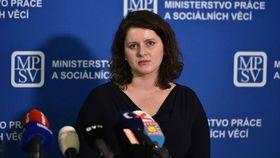 Jana Maláčová, foto: Archivo del Ministerio de Trabajo y Asuntos Sociales