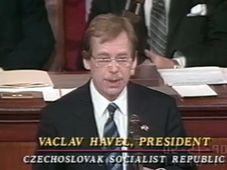 Václav Havel at the US Congress, photo: YouTube