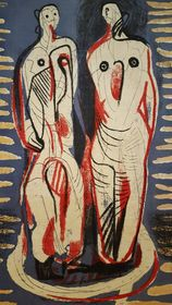 Henry Moore's design for textile, photo: Klára Stejskalová