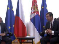 Bohuslav Sobotka et Aleksandar Vučić, photo: ČTK