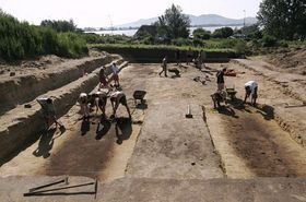 Základy někdejšího římského polního lazaretu, foto: ČTK