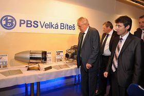 Miloš Zeman in  the Czech machinery company PBS Velká Bíteš, photo: archive of PBS