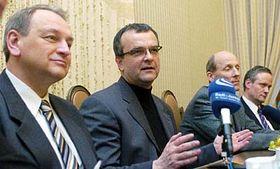 Miroslav Kalousek (a la derecha) y Jan Kasal (Foto: CTK)