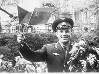 Yuri Gagarin in Prague, photo: CTK