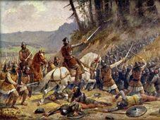 Pintura de Josef Mathauser - La Batalla de Domažlice