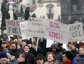 Manifestación contra la guerra en Irak, Foto: CTK