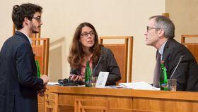 Clarisse Levasseur et Luc Lévy, photo: Site officiel du Sénat tchèque