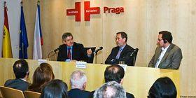 Enrique Barón Crespo, Pedro Moya Milanés y Antonín Berdych, foto: Isaac Sibecas